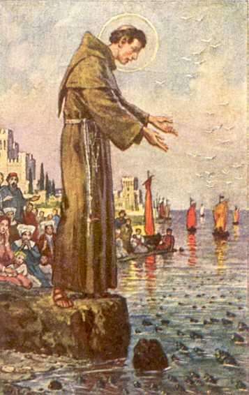 Antonius predikt voor de vissen