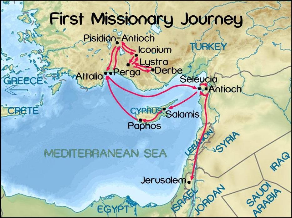 Eerste reis Paulus